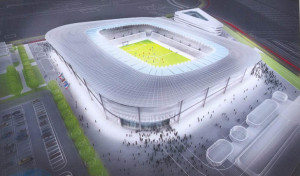 Košická futbalová aréna, začiatok výstavby 2015